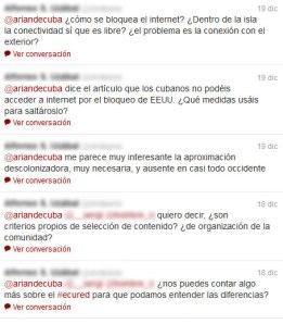 Conversación en Twitter